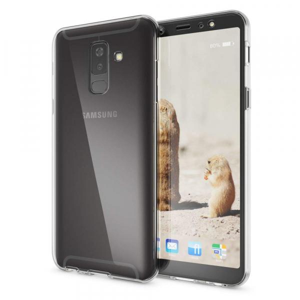 Husa Full TPU 360 fata + spate Samsung Galaxy A6+ (2018), Transparent 1