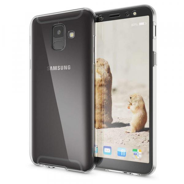 Husa Full TPU 360 fata + spate Samsung Galaxy A6 (2018), Transparent 1