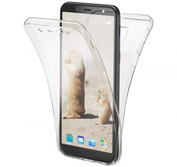 Husa Full TPU 360 fata + spate Samsung Galaxy A6 (2018), Transparent 0