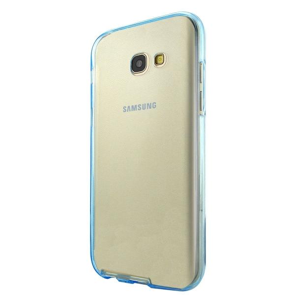 Husa Full TPU 360 (fata + spate) Samsung Galaxy A7 (2017), Albastru Transparent 2