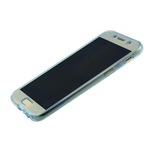 Husa Full TPU 360 (fata + spate) Samsung Galaxy A7 (2017), Albastru Transparent 1
