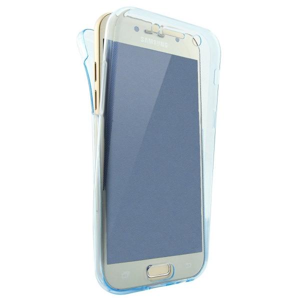 Husa Full TPU 360 (fata + spate) Samsung Galaxy A7 (2017), Albastru Transparent 0
