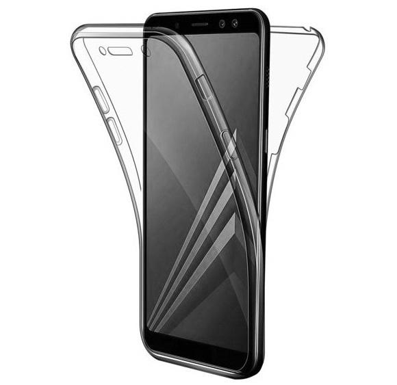 Husa Full TPU 360 fata + spate Samsung Galaxy A7 (2018), Gri transparent 0