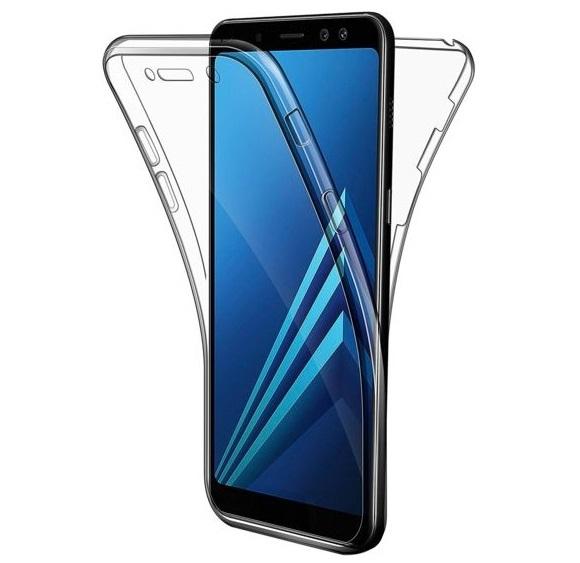 Husa Full TPU 360 fata + spate Samsung Galaxy A7 (2018), Transparent 0