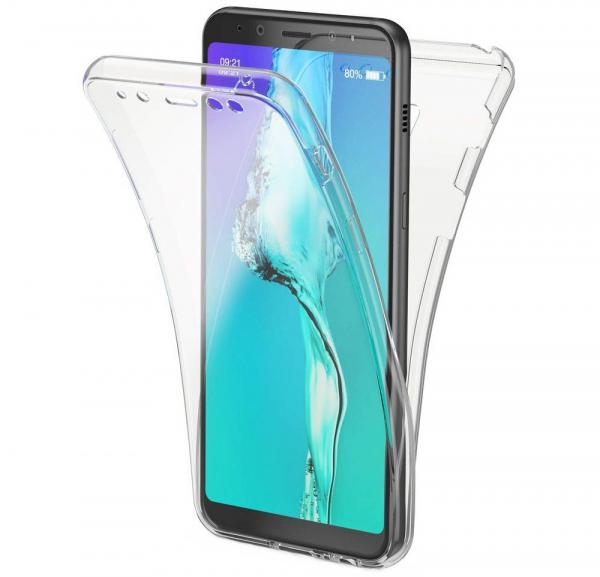 Husa Full TPU 360 fata + spate Samsung Galaxy A8 (2018), Transparent [0]