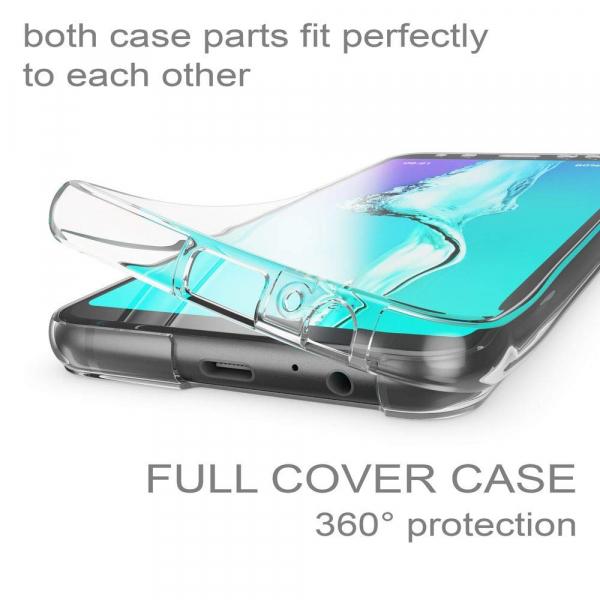 Husa Full TPU 360 fata + spate Samsung Galaxy A8 Plus (2018), Transparent [2]