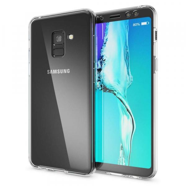 Husa Full TPU 360 fata + spate Samsung Galaxy A8 Plus (2018), Transparent [1]