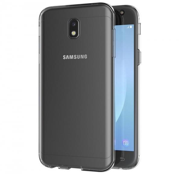 Husa Full TPU 360 fata spate Samsung Galaxy J3 (2017), Gri Transparent 2