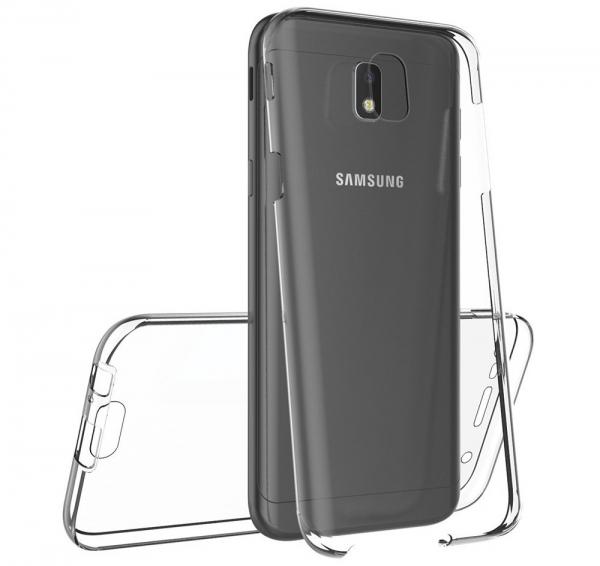 Husa Full TPU 360 fata spate Samsung Galaxy J3 (2017), Transparent 3