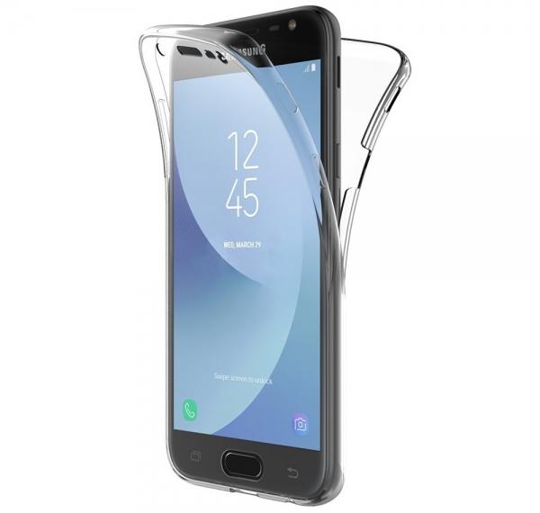 Husa Full TPU 360 fata spate Samsung Galaxy J3 (2017), Transparent 0