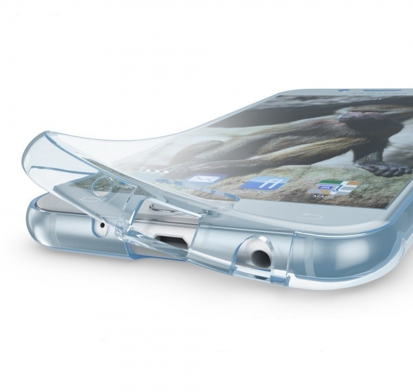 Husa Full TPU 360 fata spate Samsung Galaxy J5 (2017), Albastru Transparent 2