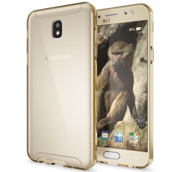 Husa Full TPU 360 fata spate Samsung Galaxy J5 (2017), Gold Transparent 1