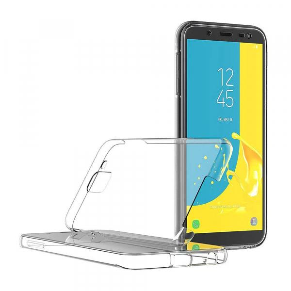 Husa Full TPU 360 fata + spate Samsung Galaxy J6 (2018), Transparent 2
