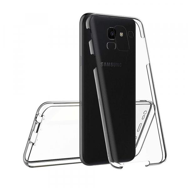 Husa Full TPU 360 fata + spate Samsung Galaxy J6 (2018), Transparent 3