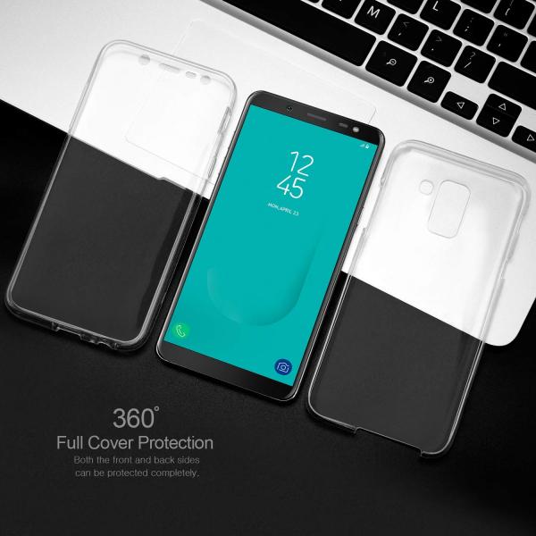 Husa Full TPU 360 fata + spate Samsung Galaxy J6 (2018), Transparent 4