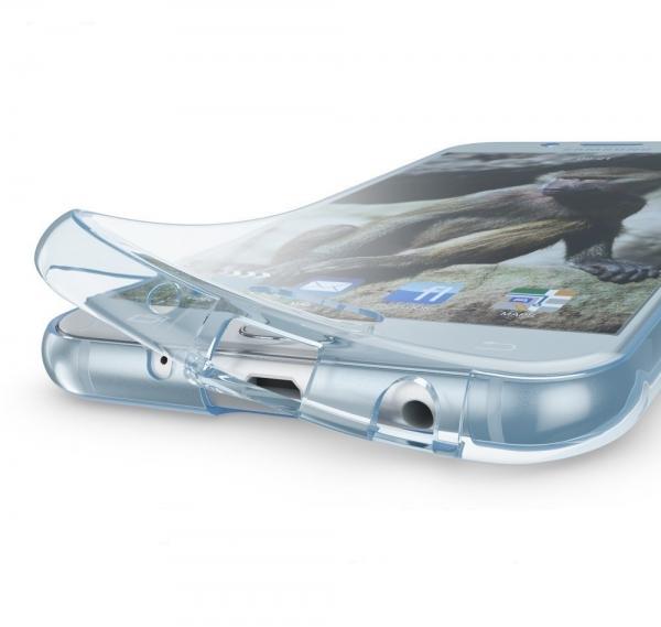 Husa Full TPU 360 fata spate Samsung Galaxy J7 (2017), Albastru Transparent 2