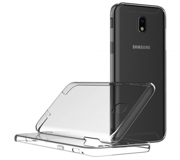 Husa Full TPU 360 fata spate Samsung Galaxy J7 (2017), Gri Transparent 2