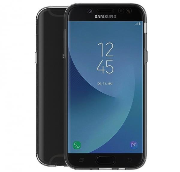 Husa Full TPU 360 fata spate Samsung Galaxy J7 (2017), Gri Transparent 1