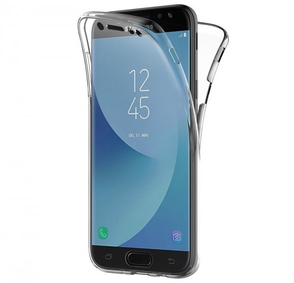 Husa Full TPU 360 fata spate Samsung Galaxy J7 (2017), Transparent 0