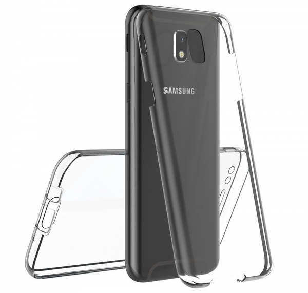 Husa Full TPU 360 fata spate Samsung Galaxy J7 (2017), Transparent 3
