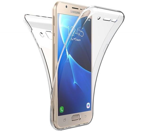 Husa Full TPU 360 fata spate Samsung Galaxy J7 Prime, Transparent 0