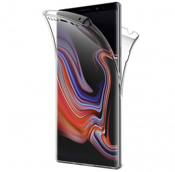 Husa Full TPU 360 fata + spate Samsung Galaxy Note 9, Transparent 0