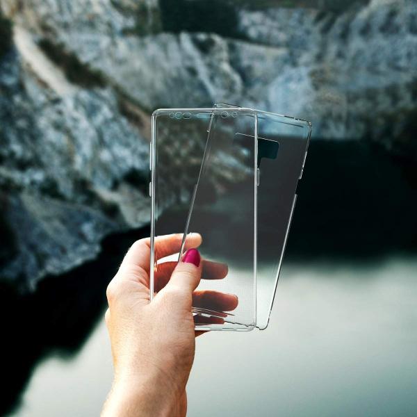 Husa Full TPU 360 fata + spate Samsung Galaxy Note 9, Transparent 2