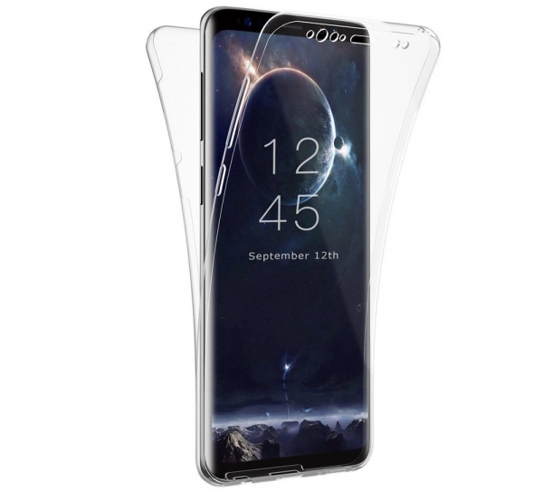 Husa Full TPU 360 fata spate Samsung Galaxy S9 Plus, Transparent 0