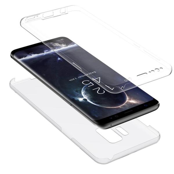 Husa Full TPU 360 fata + spate Samsung Galaxy S9, Transparent 1