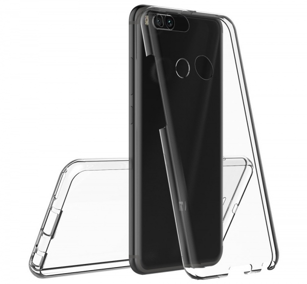 Husa Full TPU 360 fata spate Xiaomi Mi A1, Transparent 3