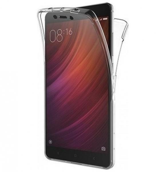 Husa Full TPU 360 fata spate Xiaomi Redmi 4A, Transparent 0