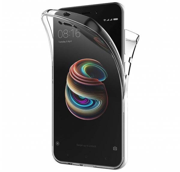 Husa Full TPU 360 fata + spate Xiaomi Redmi 5A, Transparent 0