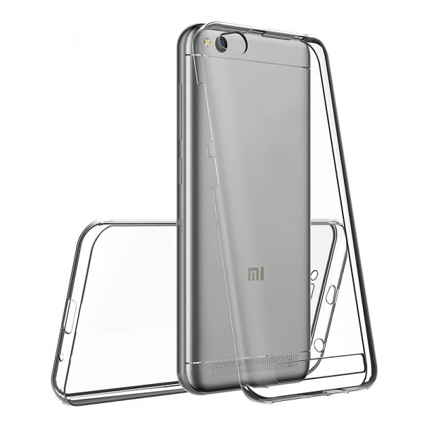 Husa Full TPU 360 fata + spate Xiaomi Redmi 5A, Transparent 1