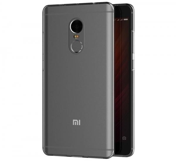 Husa Full TPU 360 fata spate Xiaomi Redmi Note 4, Gri Transparent 1