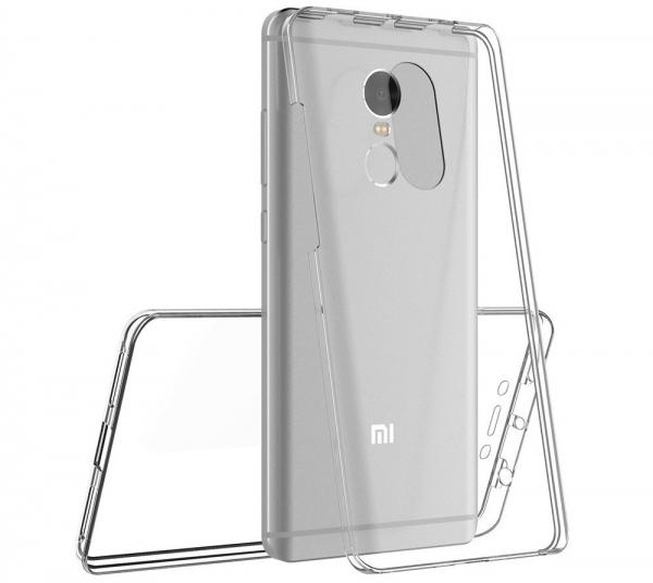 Husa Full TPU 360 fata spate Xiaomi Redmi Note 4, Transparent [3]