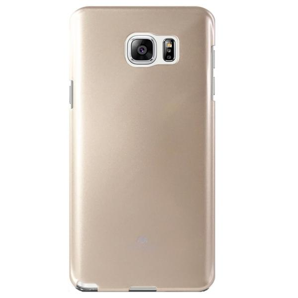 Husa Goospery Jelly Samsung Galaxy Note 5, Gold 1