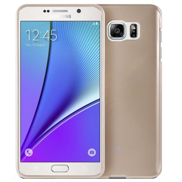 Husa Goospery Jelly Samsung Galaxy Note 5, Gold 0