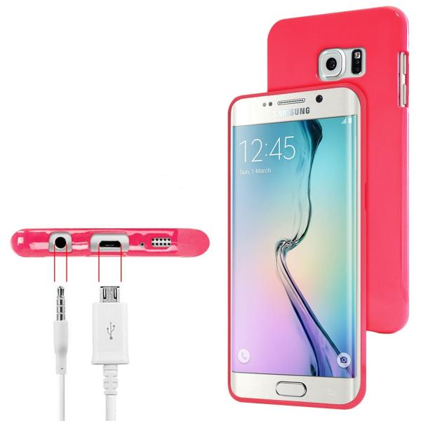 Husa Goospery Jelly Samsung Galaxy S6 Edge, Hot Pink [1]