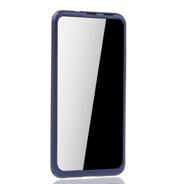Husa Huawei Honor View 20 Full Cover 360 + folie sticla, Albastru [2]