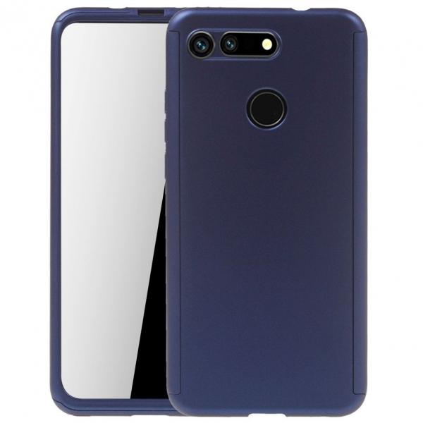 Husa Huawei Honor View 20 Full Cover 360 + folie sticla, Albastru [0]