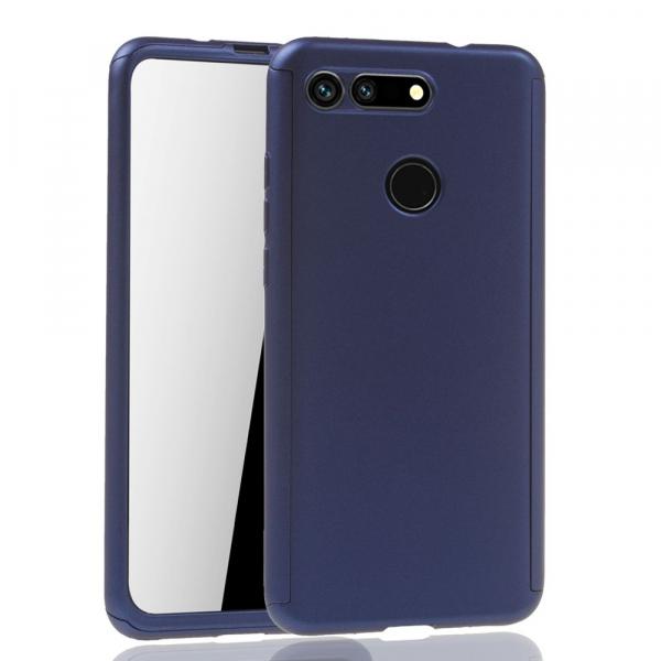 Husa Huawei Honor View 20 Full Cover 360 + folie sticla, Albastru [1]