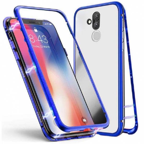 Husa Huawei Mate 20 Lite Magnetic Glass 360 (sticla fata + spate), Albastru 0