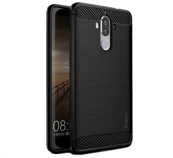 Husa Huawei Mate 9 iPaky Fiber, Negru [0]