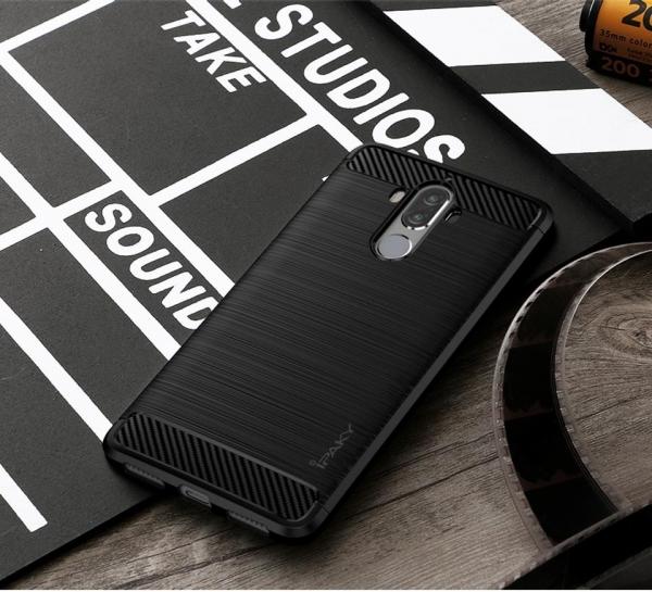 Husa Huawei Mate 9 iPaky Fiber, Negru [1]