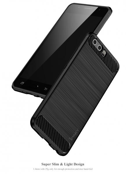 Husa Huawei P10 iPaky Fiber, Negru 3