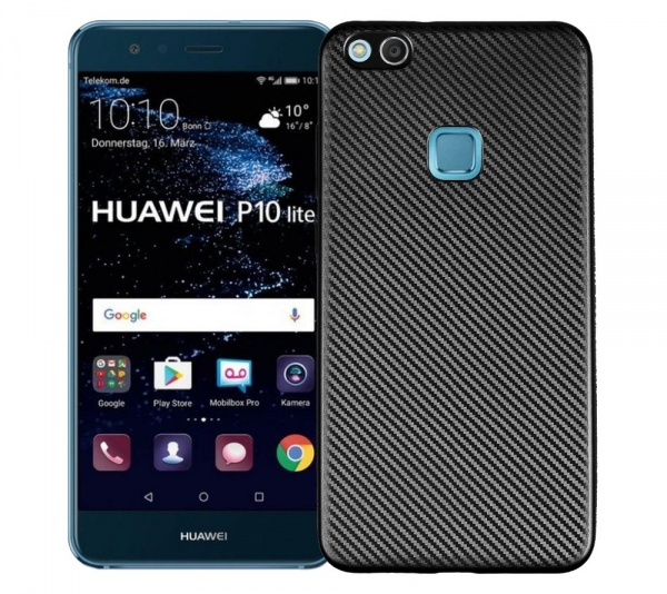 Husa Huawei P10 Lite i-Zore Carbon, Negru 0