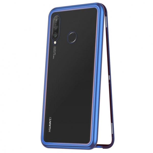 Husa Huawei P20 Lite Magnetic Glass 360 (sticla fata + spate), Albastru 0