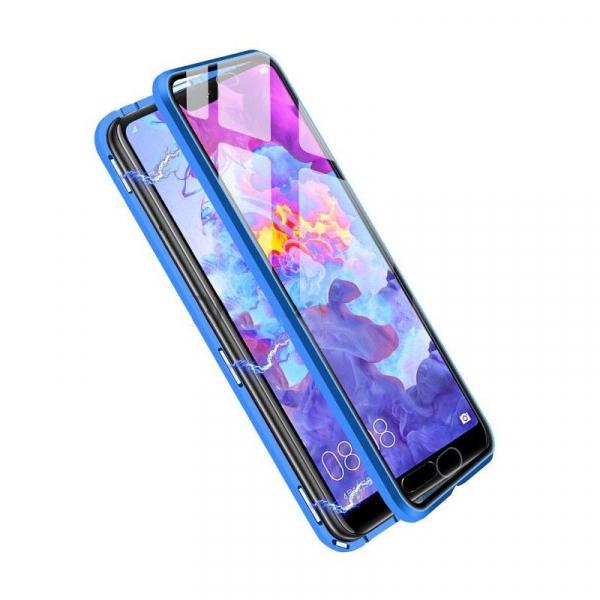 Husa Huawei P20 Pro Magnetic Glass 360 (sticla fata + spate), Albastru 1
