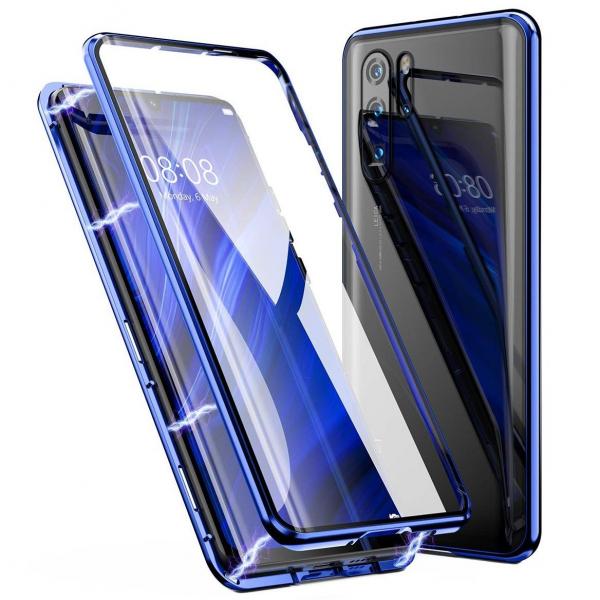 Husa Huawei P30 Pro Magnetic Glass 360 (sticla fata + spate), Albastru 0