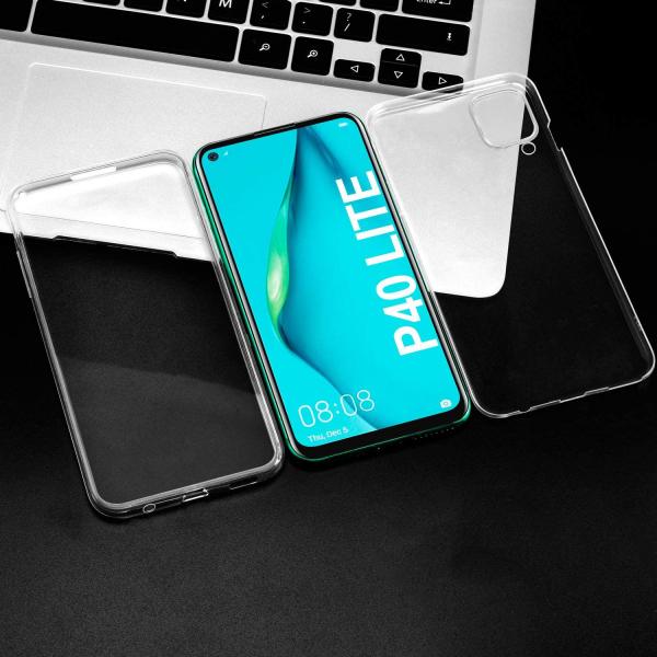 Husa Huawei P40 Lite Full TPU 360 (fata + spate), Transparent 3
